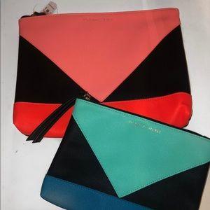 Victoria's Secret neon makeup bag set